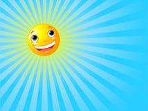 Glücklicher lächelnder Sun-Sommer-Hintergrund Stockfoto