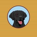 Glücklicher Labrador-Apportierhund Porträt eines Hundes vektor abbildung