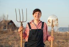 Glücklicher Landwirt Stockbild