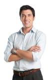 Glücklicher lateinischer junger Mann Stockfoto