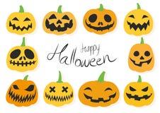 Glücklicher Laternensatz Halloween-Steckfassung O Lizenzfreies Stockbild