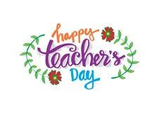 Glücklicher Lehrer ` s Tag lizenzfreie abbildung