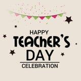 Glücklicher Lehrer ` s Tag lizenzfreies stockfoto