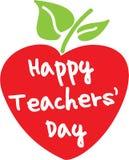 Glücklicher Lehrer ` s Tagesapfel Stockbild