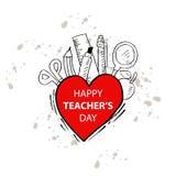 Glücklicher Lehrertag vektor abbildung