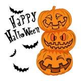 Glücklicher lokalisierte Illustration Halloweens Vektor Lizenzfreies Stockfoto
