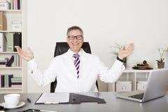 Glücklicher männlicher Arzt Stockfotos