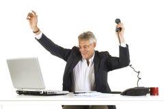 Glücklicher Manager Lizenzfreie Stockfotos