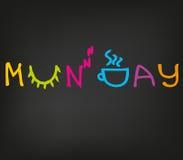 Glücklicher Montag-Morgen Stockfoto