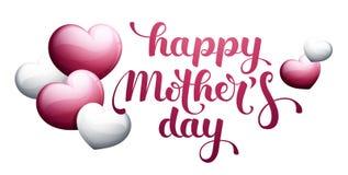 Glücklicher Mother's-Tag mit Herzen Lizenzfreie Stockbilder