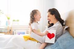 Glücklicher Mutter`s Tag stockbild