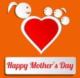 Glücklicher Mutter-Tag Stockfoto