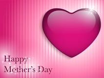Glücklicher Mutter-Tagesherz-Hintergrund Stockfotos