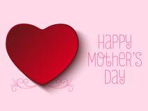 Glücklicher Mutter-Tagesherz-Hintergrund Stockbild