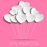 Glücklicher Mutter-Tagesherz-Hintergrund Stockbilder