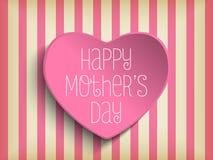 Glücklicher Mutter-Tagesherz-Hintergrund Lizenzfreies Stockbild