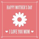Glücklicher Muttertag Karte des Mutter Tages Lizenzfreie Stockfotos