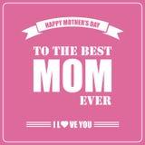 Glücklicher Muttertag Karte des Mutter Tages Stockfotografie