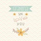 Glücklicher Muttertag Karte für Großmutter lizenzfreie abbildung