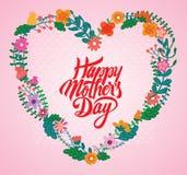 glücklicher Muttertag mit Blume lizenzfreie stockfotos