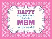 Glücklicher Muttertag Typografiebuchstabe-Gussart Lizenzfreie Stockfotos