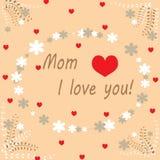Glücklicher Muttertageshintergrund Raum für Text Illustration des glücklichen Muttertages stockfotos