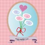 Glücklicher Muttertaggrußkartenvektor Lizenzfreie Stockfotografie