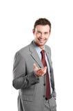 Glücklicher natürlicher lächelnder Geschäftsmann Lizenzfreies Stockfoto