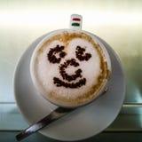 Glücklicher neapolitanischer Kaffee stockfotografie