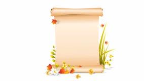 Glücklicher Osterhase, der mit Zeichen Guten Tag sagt stock video footage