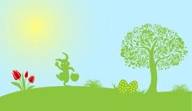Glücklicher Ostern-Dekorations-Vektor Stockbilder