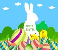 Glücklicher Ostern-Grußhintergrund Stockbilder