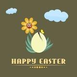 Glücklicher Ostern-Hintergrund Stockfoto
