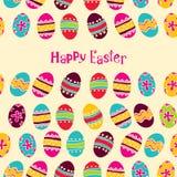 Glücklicher Ostern-Hintergrund. Osterei Lizenzfreie Stockbilder