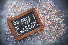 Glücklicher Ostern-Konzepthintergrund Lizenzfreies Stockfoto
