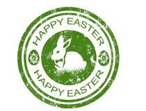 Glücklicher Ostern-Stempel Lizenzfreie Stockfotos