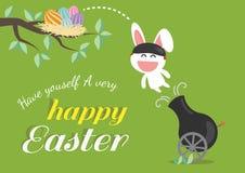 Glücklicher Ostern-Tag für Kartendesign Lizenzfreie Stockfotos