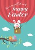 Glücklicher Ostern-Tag für Kartendesign Stockbilder