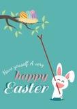 Glücklicher Ostern-Tag für Kartendesign Lizenzfreie Stockfotografie