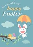 Glücklicher Ostern-Tag für Kartendesign Stockfotos