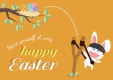 Glücklicher Ostern-Tag für Kartendesign Stockbild
