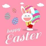 Glücklicher Ostern-Tag für Kartendesign Stockfoto