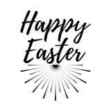 Glücklicher Ostern-Tagesaufkleber Guss mit Bürste Ostern-Tagesausweise Vect Lizenzfreies Stockbild