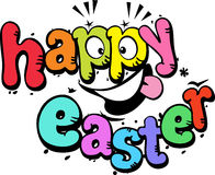 Glücklicher Ostern-Text vektor abbildung