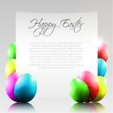 Glücklicher Ostern-Vektor-Buchstabe mit bunten Eiern Lizenzfreie Stockbilder