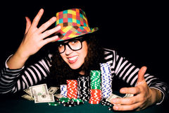 Glücklicher Poker Stockfotos