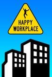 Glücklicher positiver konstruktiver Arbeitsplatz vektor abbildung