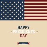 Glücklicher Präsidenten ` Tag Designgrußplakat Auch im corel abgehobenen Betrag Lizenzfreie Stockbilder