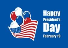 Glücklicher Präsidenten ` Tagesvektor Stockfotos