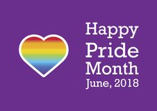 Glücklicher Pride Month-Vektor Lizenzfreie Stockbilder